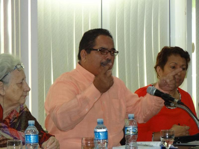 Intervención del Dr.C. Rafael Enrique Cervantes Martínez, director de Historia y Marxismo-Leninismo del MES.
