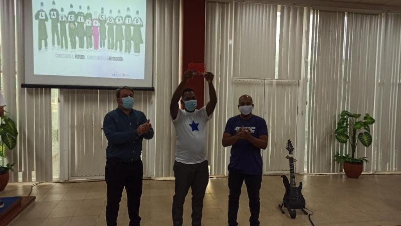 La labor altruista de los jóvenes de la UCI en el enfrentamiento a la COVID-19 fue reconocida con la condición Jóvenes por la Vida.