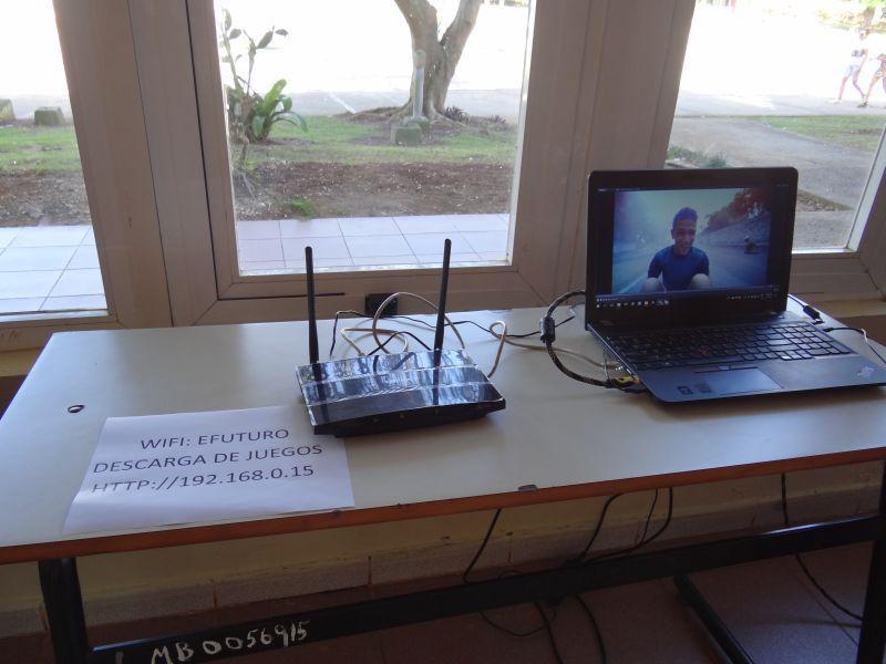 Red Wifi para descarga de productos informáticos