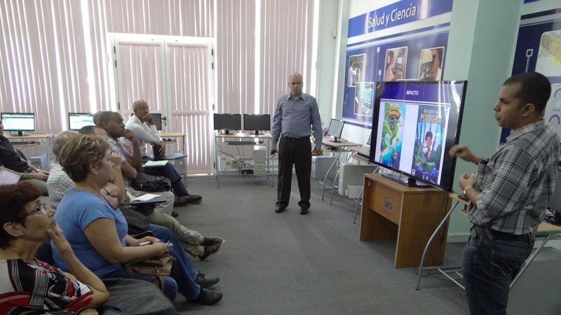 Centro de Entornos Virtuales e Interactivos Tridimensionales (Vertex) muestra su presentación.