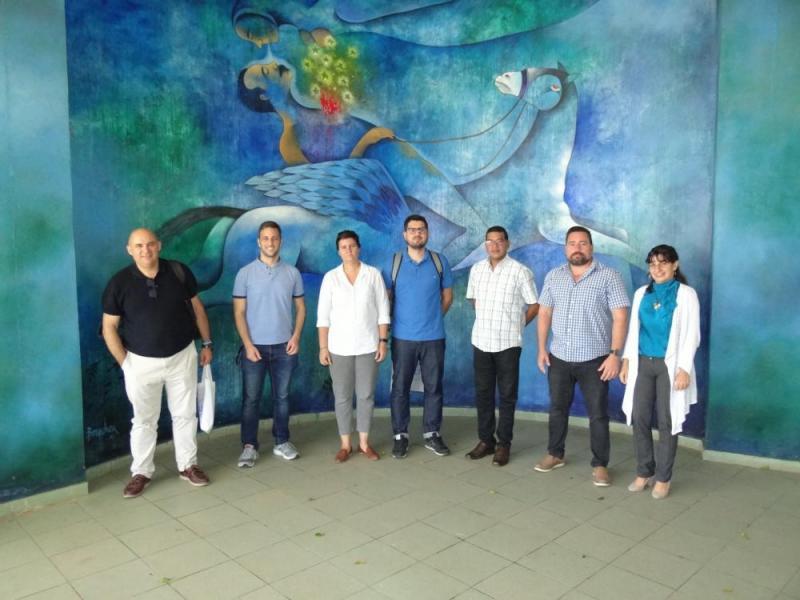 Especialistas de las empresas Imagia SCA y Alborada IT de España visitaron en la jornada de este jueves la Universidad de las Ciencias informáticas.