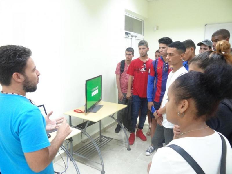 Presentación de productos informáticos.