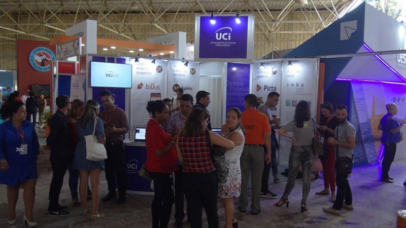 Stand de la UCI en Feria Internacional de La Habana 2018.