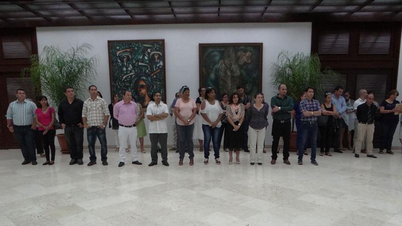 Estuvieron presentes en el acto de reconocimiento, miembros del Consejo Universitario, los coordinadores de los programas de maestrías y directivos del ACM-ICPC que integran la delegación cubana al Mundial de Programación en Estados Unidos.