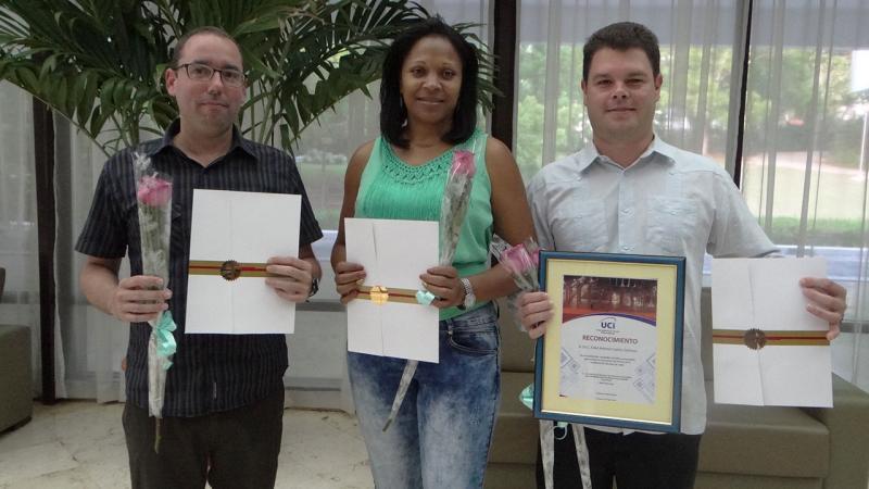 Juan Antonio Plasencia Soler y Elizabeth Rodríguez Stiven ostentan ahora la categoría docente de Profesor Auxiliar. Por su parte, la UCI cuenta con un nuevo Profesor Titular, el Dr.C. Fidel Antonio Castro Smirnov.