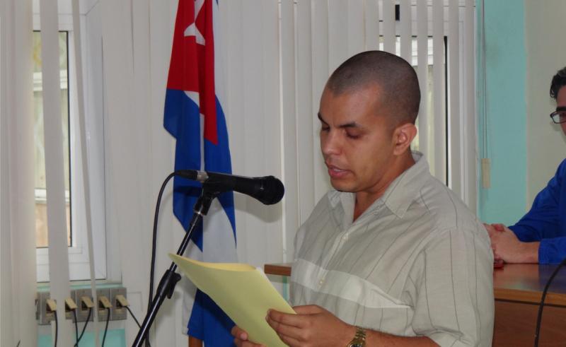 Las palabras centrales del acto inaugural estuvieron a cargo del director del Centro de Tecnologías Interactivas, Dr.C. Hassán Lombera Rodríguez.