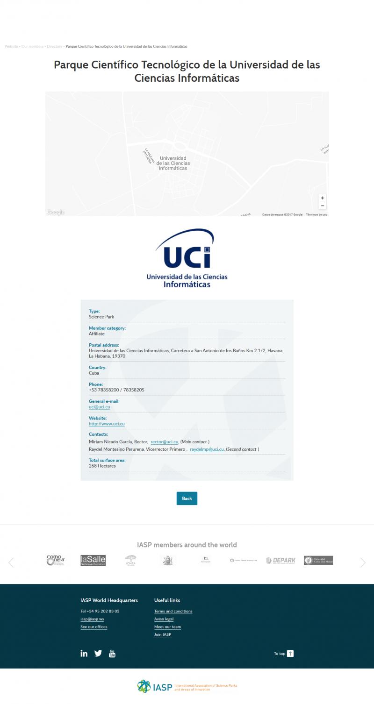 UCI como Parque Científico Tecnológico