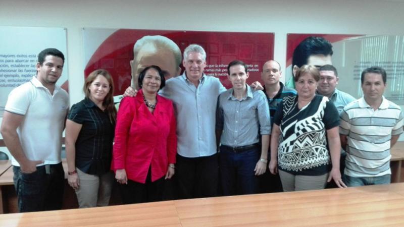 Visita la UCI el Presidente de los Consejos de Estado y de Ministros, compañero Miguel Díaz-Canel Bermúdez.