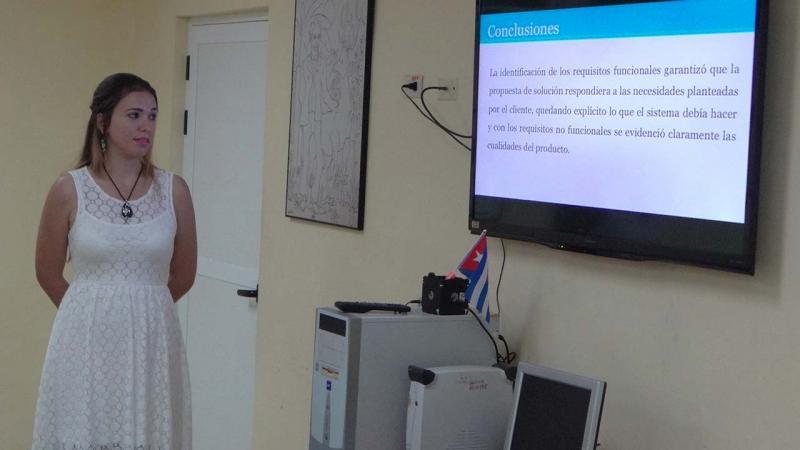 El Docente José Martí acogió la tesis Sistema para la publicación de contenido web desde un dispositivo móvil con el sistema operativo Android, de la estudiante Daynis Rodríguez Ramos.