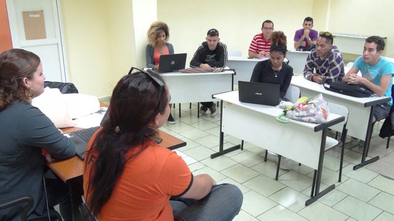 Estudiantes de la Facultad 1 plantean sus sugerencias en 9no. Congreso en la brigada.