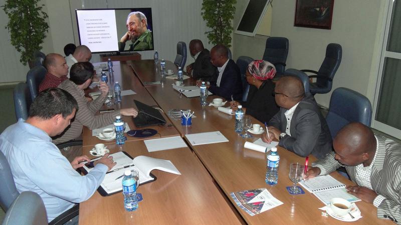 La comitiva extranjera presidida por Vitória Langa De Jesus, directora ejecutiva del Fondo Nacional de Investigaciones del país africano, calificó de oportuno este encuentro.