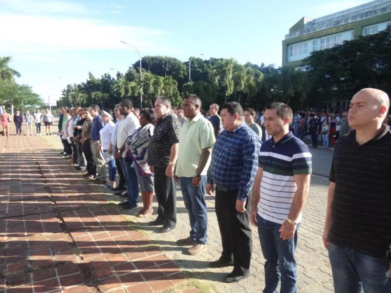 El Consejo Universitario y miembros de la Universidad participaron en el acto.
