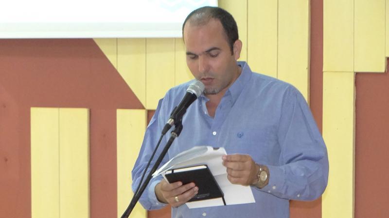 El Dr.C. Omar Correa Madrigal, director de Investigaciones en la UCI, tuvo a su cargo las palabras de apertura del evento.