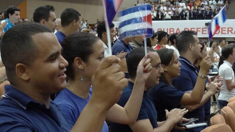 Estudiantes y trabajadores de la UCI mostraron su solidaridad con el pueblo venezolano
