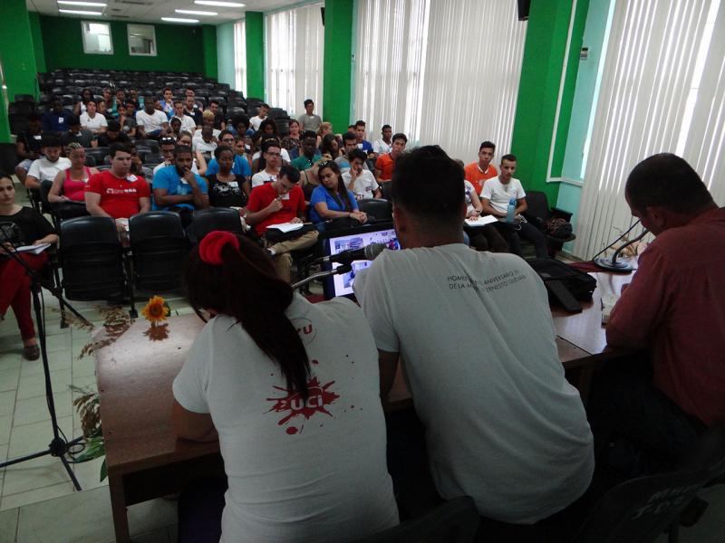 El cónclave de la FEU en esta facultad contó, además, con la presencia de representantes del Secretariado Nacional de la FEU y de la UJC.