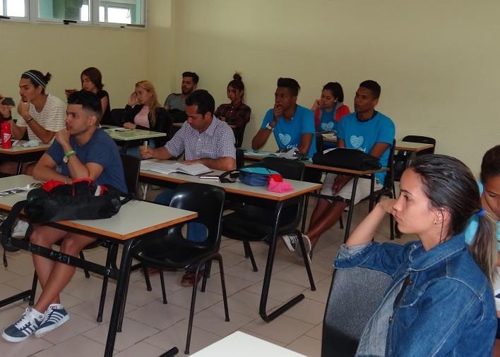 Congreso de la FEU en las brigadas de la Facultad 2.