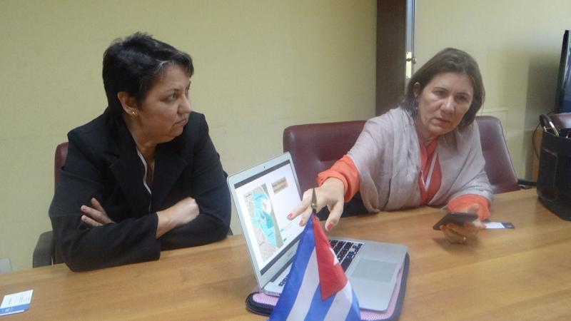 From left to right: Professor Dra. Marcia Lima da Silva and the Rector Ângela Maria Paiva Cruz of the Federal University of Rio Grande do Norte (UFRN), show their project of Metrópole Digital Science and Technology Park.