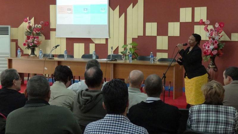 Presentación de la UCI por la Rectora Taller UCI-BioCubaFarma