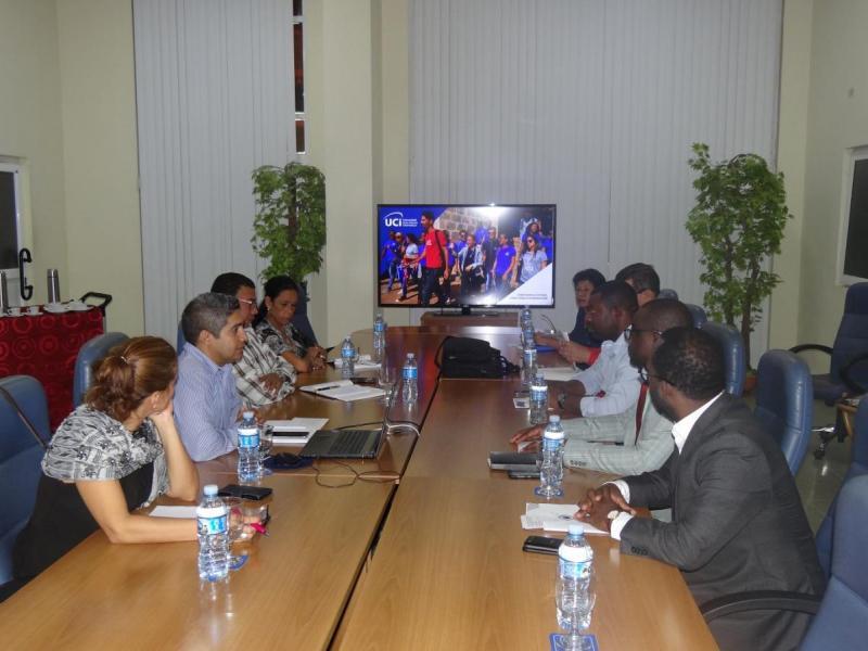 Encuentro de la UCI y representantes de Guinea Ecuatorial