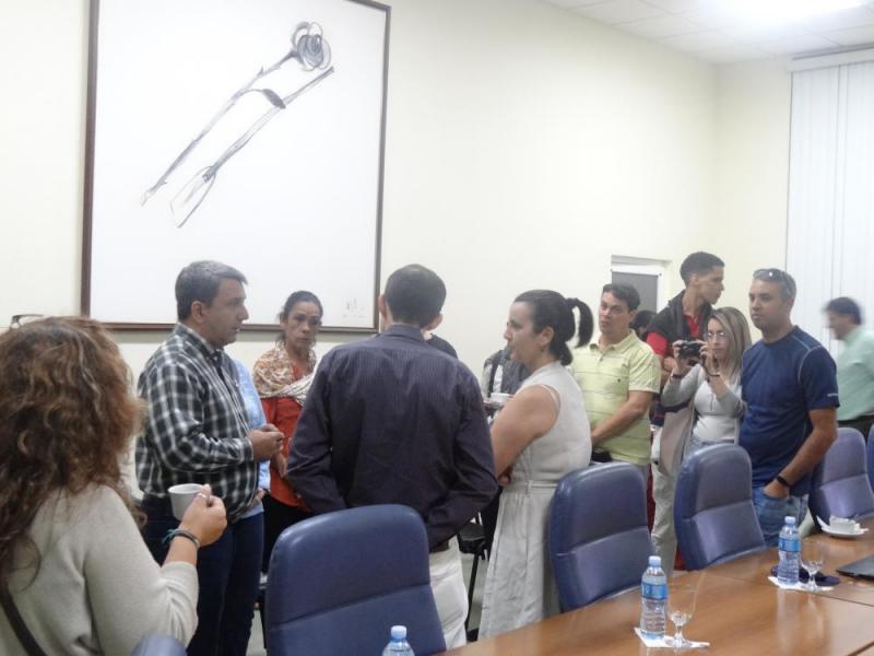 El Rector de la Universidad dialogó con los especialistas de la Oficina del Historiador de la ciudad de La Habana