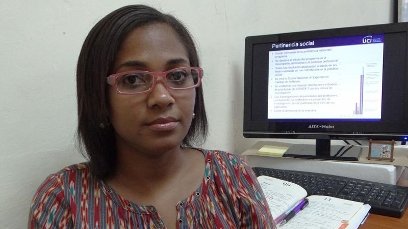 La MSc. Alionuska Velázquez siente satisfacción de comprobar el prestigio internacional de los profesores de la Universidad de las Ciencias Informáticas.