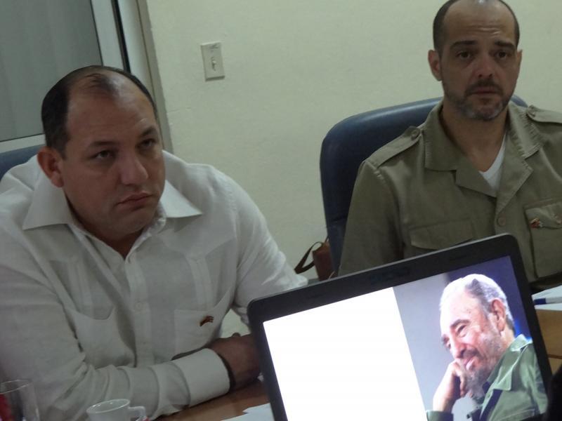 Visita a la UCI de Hugbel Roa, ministro del Poder Popular de Venezuela para la Educación Universitaria, Ciencia y Tecnología.
