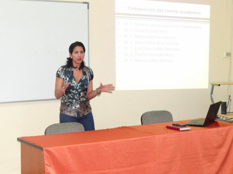 La Dra.C. Roxana Cañizares González, directora de Educación de Posgrado y coordinadora de la Maestría, significó el impacto que han tenido las investigaciones que se han desarrollado en esta área.