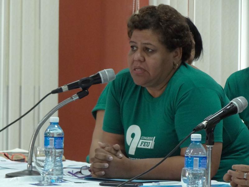 Olga Lidia Tapia Iglesias, miembro del Secretariado y jefa del Departamento de Educación, Deporte y Ciencia del Comité Central del Partido Comunista de Cuba