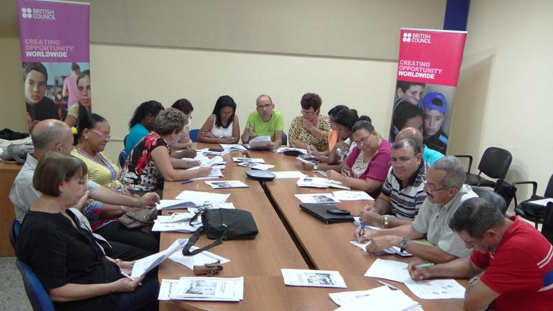 Professors from different Cuban universities are being trained