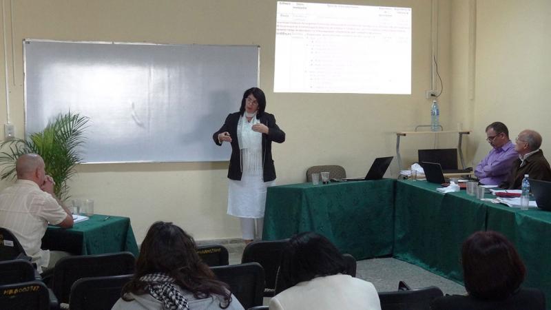 La MSc. Neilys González Benítez, representante del Centro Meteorológico Provincial de Pinar del Río.