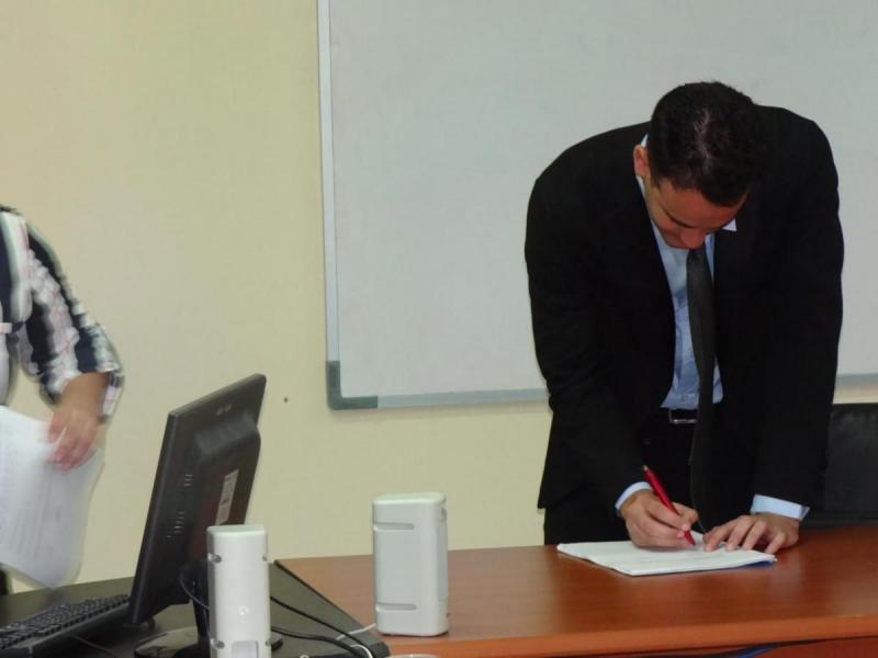 """Defensa de tesis """"Construcción de ambiente de configuración de SIGE"""", presentado por José Miguel Rodríguez Marchán."""