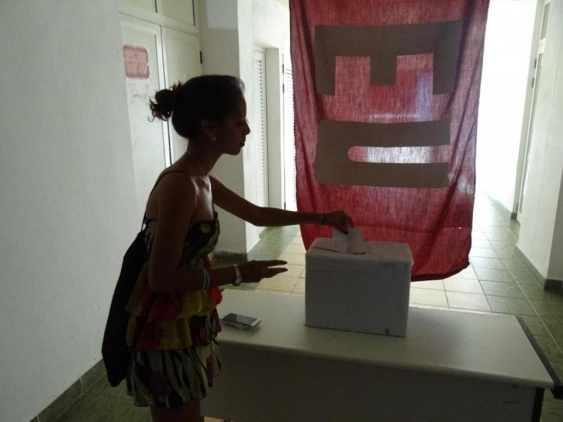 Los jóvenes universitarios eligieron a sus representantes.