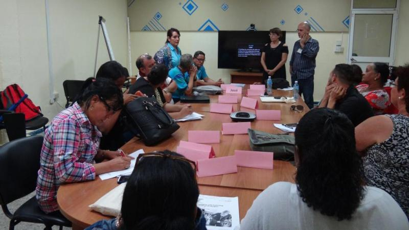 La Directora cubana del British Council hizo saber a los asistentes que nuestro país es el tercer país en América que ha podido acceder a esta metodología de enseñanza remota
