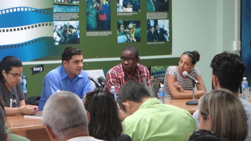 En la presentación el periodista Wilmer Rodríguez dijo que el comunicador más grande de este país fue Fidel.