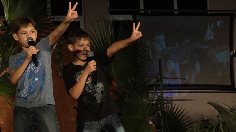 Este dúo de niños abrió la XV edición de los Festivales de Artistas Aficioandos de la UCI en las manifestaciones de danza, música y locución. Universidad de Ciencias Informáticas UCI