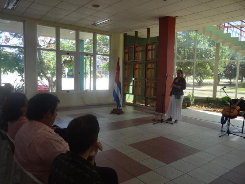 Intervención de la Dra. Berta Pichs Herrera, de la Universidad de La Habana.