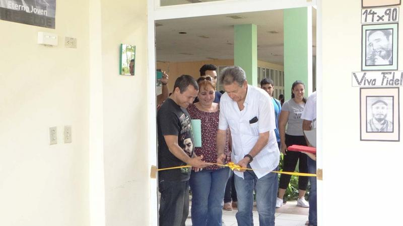 Reopening of the room devoted to honor Ernesto Che Guevara in School Building 2