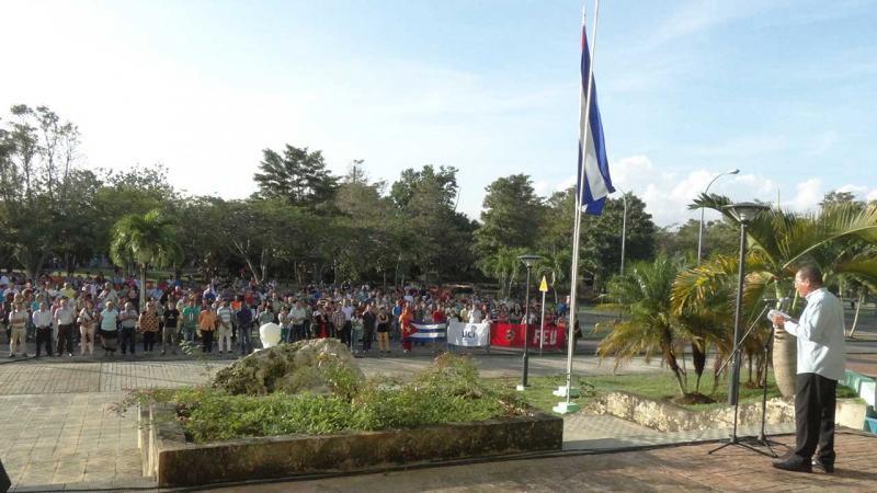 Acto de reafirmación con la Revolución Cubana en la UCI