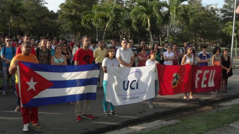 Acto de reafirmación revolucionaria en la UCI.