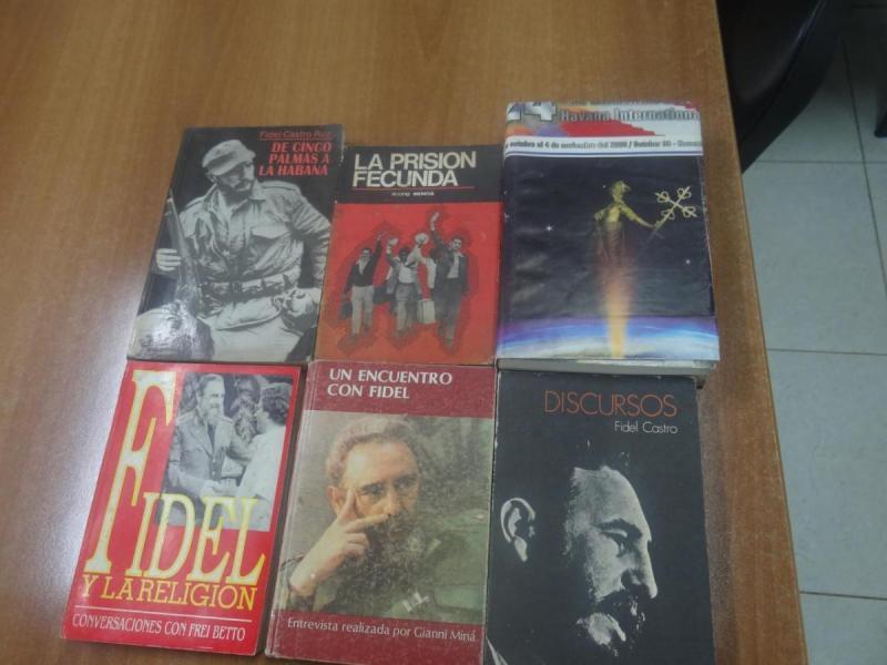 Libros donados a la Cátedra de Estudios del Pensamiento del Comandante en Jefe Fidel Castro Ruz.