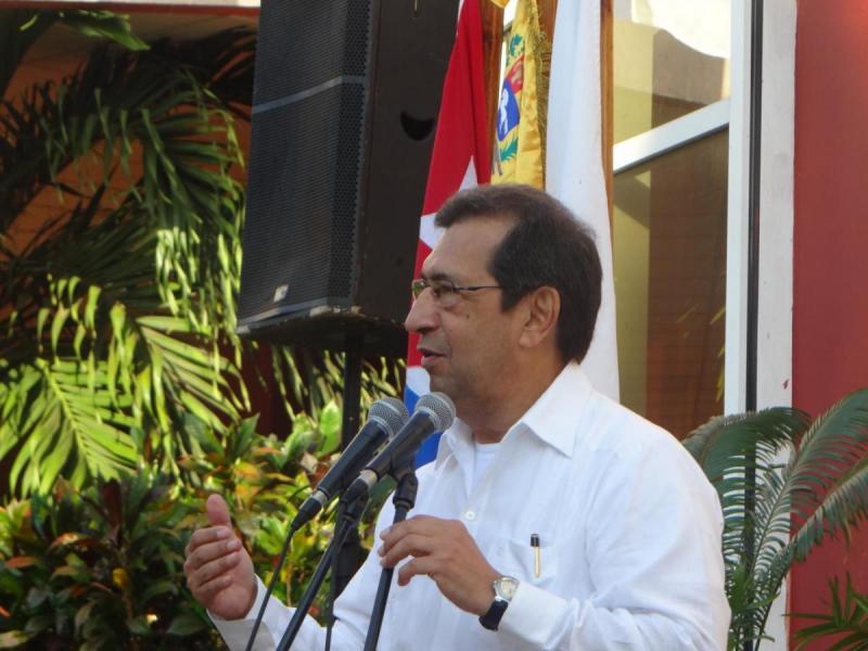 Intervención del Excelentísimo Señor Adán Chávez Frías, embajador de la República Bolivariana de Venezuela en la República de Cuba.