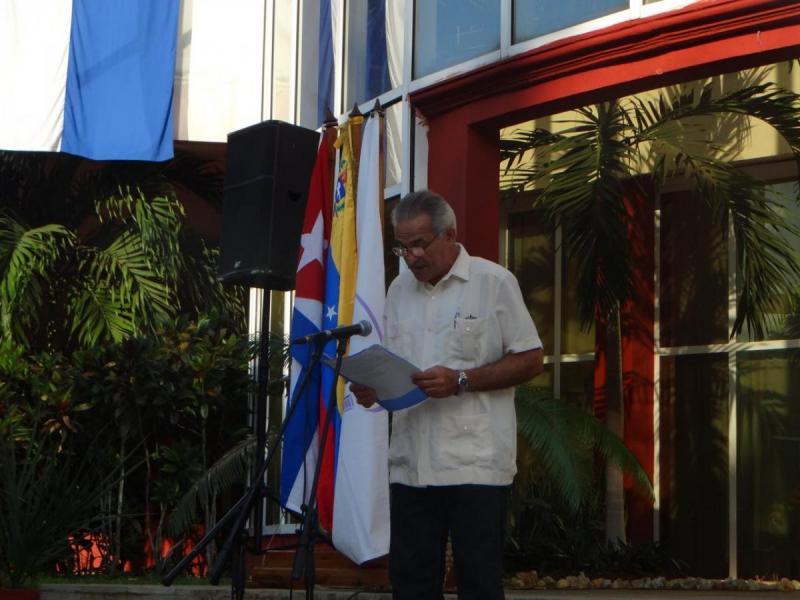 Intervención del Dr.C. Manuel Villanueva, presidente de la Cátedra Honorífica Pensamiento Boliviariano, de la UCI.