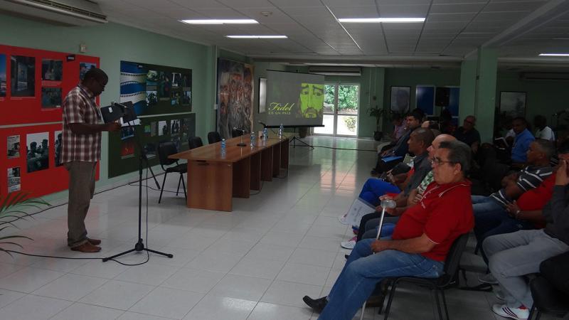 El panel estuvo dedicado a resaltar la impronta del atleta mayor, el Comandante en Jefe Fidel Castro.