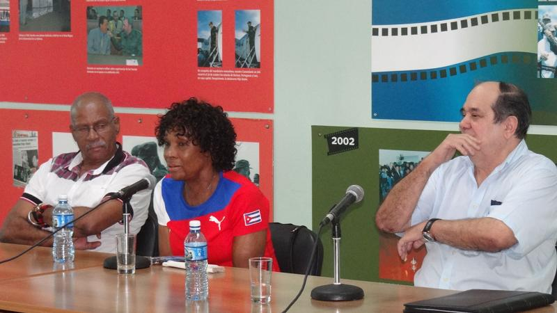 Durante el panel las glorias del deporte cubano Ana Fidelia Quirot, Hermes Julián Ramírez y el directivo Arnaldo Rivero Fuxa subrayaron el aporte del Fidel a la actividad atlética.