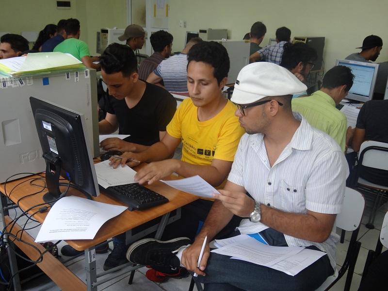 Concurso real en los laboratorios de programación competitiva.
