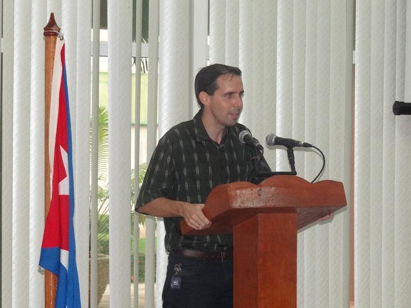 El Dr.C. Raydel Montesino Perurena presente en la clausura del evento.