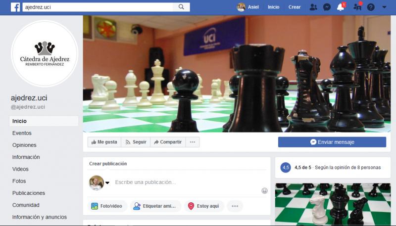 Perfil en la red social Facebook de la Cátedra Honorífica de Ajedrez Remberto A. Fernández.