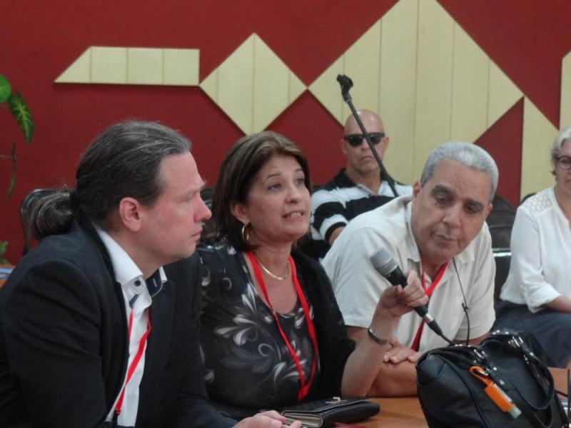 Los delegados del taller reconocieron los aportes de la UCI a la sociedad cubana.