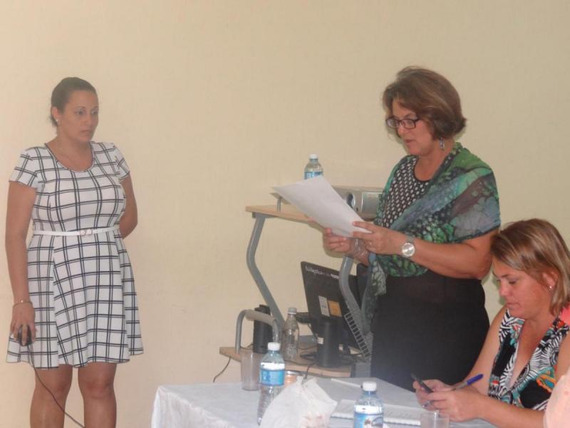 Exposición de tesis de Leidy Ramos González.