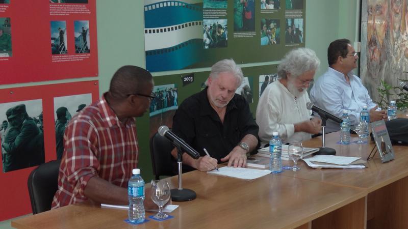 De izquierda a derecha Silvano Merced Len, Arnold August, Luis Toledo Sande y Rafael Cervantes Martínez.